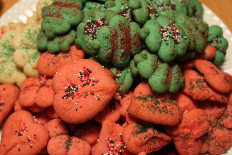Spritz Cookies food Wendy Holiday Cookie Creations