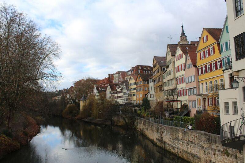 Tübingen canal Wendy Tübingen - a town of all seasons