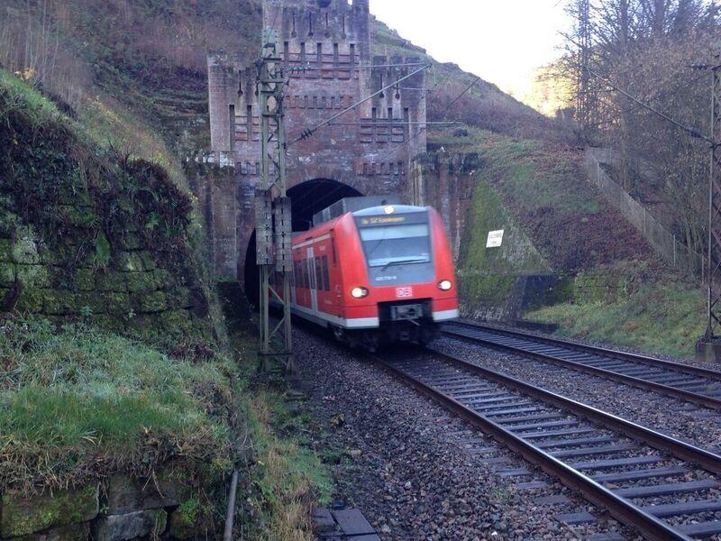Castle tunnel with train Kelly The OTHER Frankenstein Castle (Frankenstein, Rhineland-Palatinate)