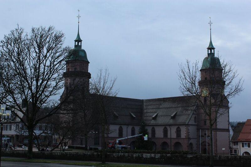 Freundenstadt church Wendy Winter fun in the Black Forest