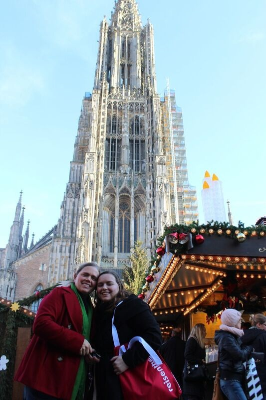 Katy and I cathedral Wendy The cathedral and city of Ulm