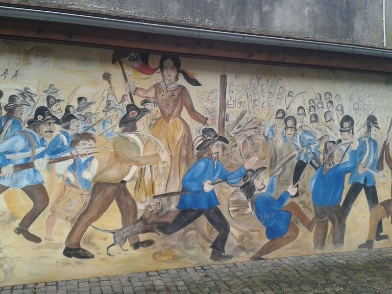 Prussian bAttle Mural Kelly Kirschheimbolanden