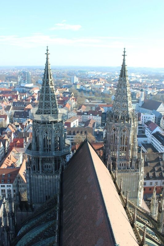 Views of the two towers Wendy The cathedral and city of Ulm