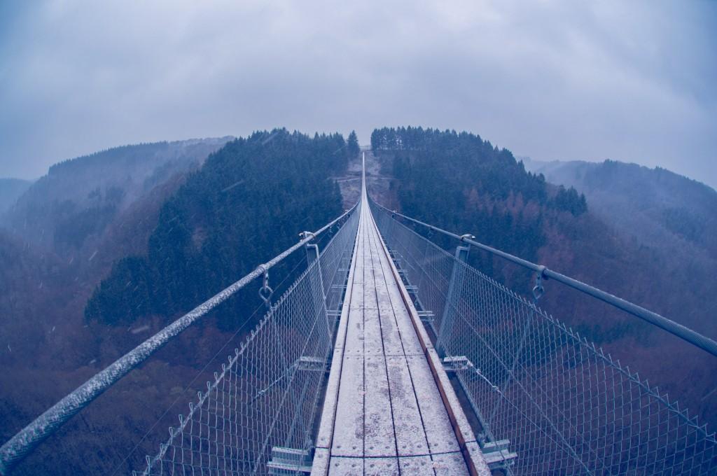 -0423 Gemma Geierlay Germany's Longest Suspension Bridge