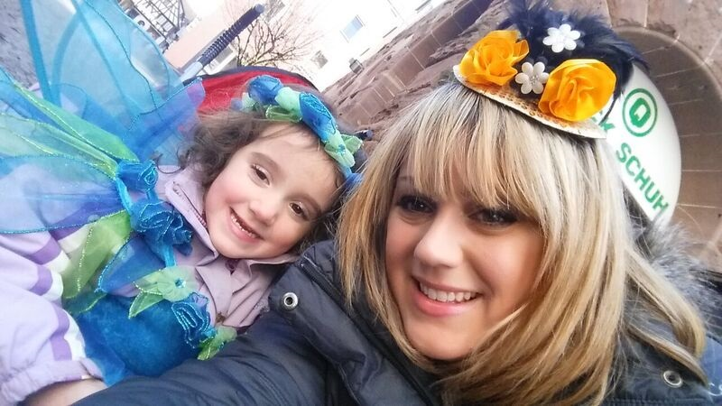 103659 with daughter Gemma Schramberg Fastnacht Boat Race and Parade