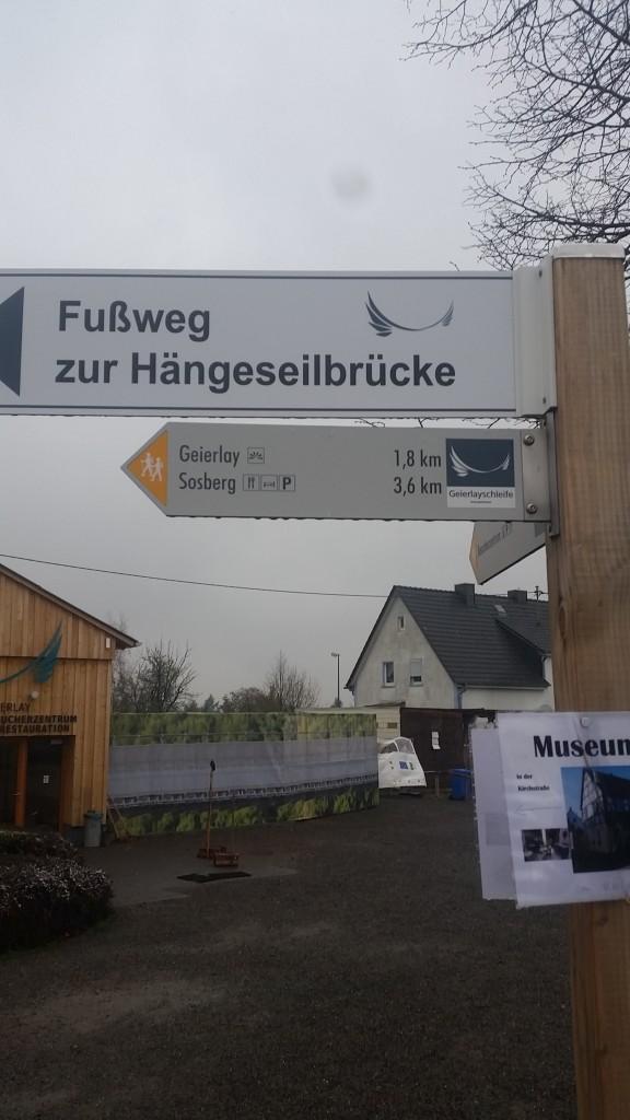 Sign Gemma Geierlay Germany's Longest Suspension Bridge