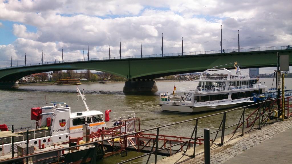 Bonn River with Boat Kelly Bonn Beethoven's Birthplace 16
