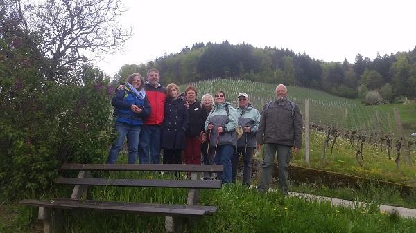 Group photo Wendy Wine Walks near Stuttgart May 16