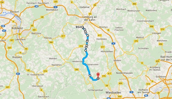 Route on map Gemma Ride to River Aar July 16