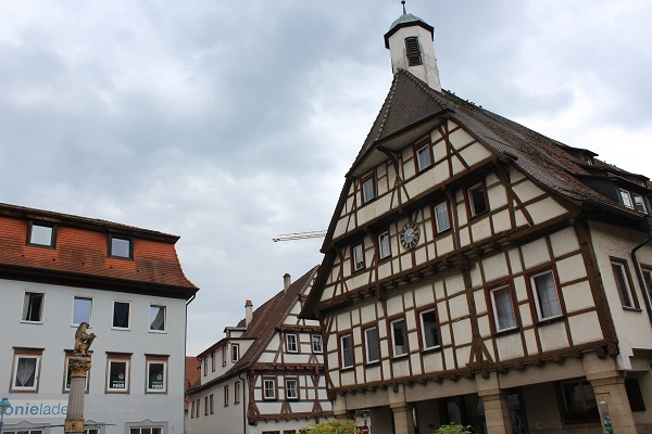 View of downtown The Blue Waters of Blaubeuren June 16