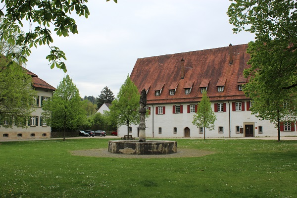 monastery courtyard Wendy the Blue Waters of Blaubeuren June 16