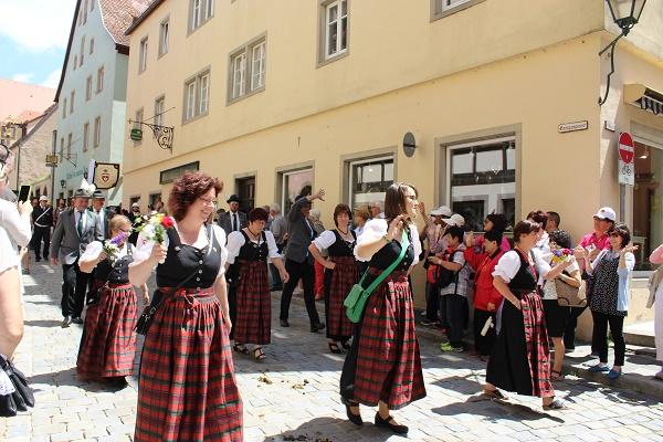 festive parade Wendy Rothenburg ab der Tauber July 16